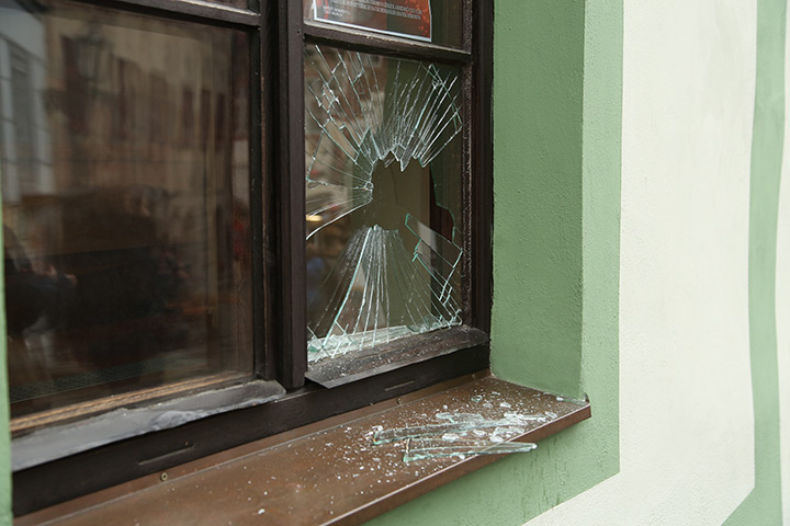 A2B Glass are able to board up broken windows while they are being repaired in Lichfield.